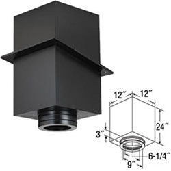 "6"" Duratech 24"" Square Ceiling Support Box"