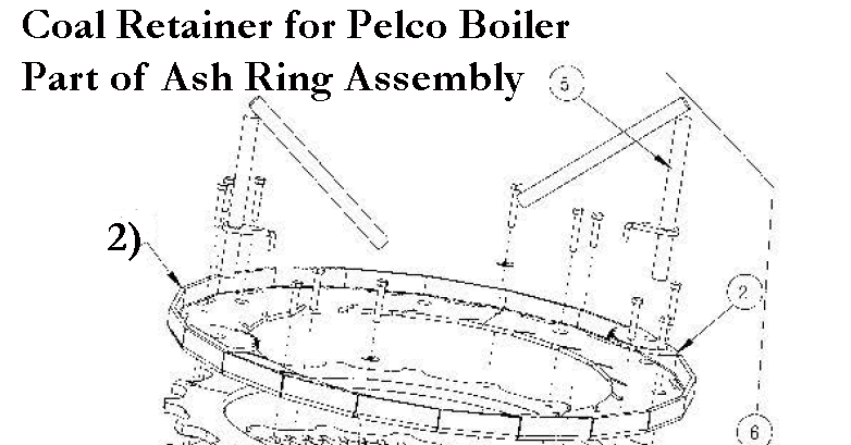 Replacement Coal Retainer - Ash Ring Assembly - Pelco 1520 Biomass ...