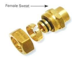 "Compression 1/2"" x 1/2"" Female Sweat Adapter"