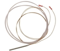 Sensor temperature probe, brass sheath, PVC cable - 5' in length