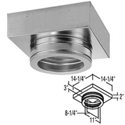 "8"" Duratech Flat Ceiling Support Box"