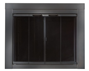 Ardmore black fireplace doors large replacement for Residential retreat fireplace doors