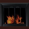 Chesterfield Glass Firescreen Black - Small