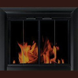 Chesterfield Glass Firescreen Black - Large