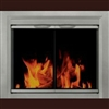 Conway Sunlight Nickel Fireplace Doors Large