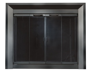 Drake Black Fireplace Doors Medium