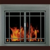 Exeter Glass Firescreen Gunmetal - Large