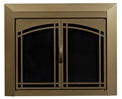 Fairmont Antique Brass Fireplace Doors Medium