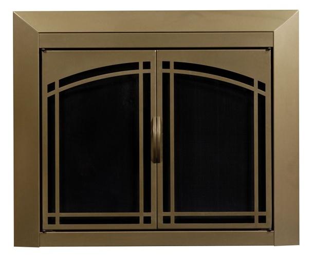 - Fairmont Antique Brass Fireplace Doors Large