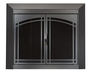 Fairmont Black Fireplace Doors Small