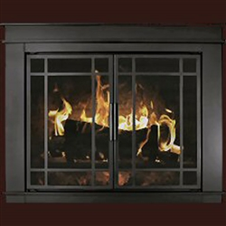 Finley Glass Firescreen Black - Small