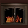 Farnworth Glass Firescreen Bronze - Small