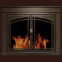Farnworth Glass Firescreen Bronze - Large