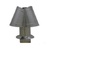 "Chimney Cap 6"" Stainless Steel"