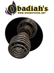 Pioneer Cookstove Nickel Draft Knob Complete