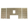 3pc Premium Fire-Tek™ Firebrick Set for Breckwell P22 and P4000