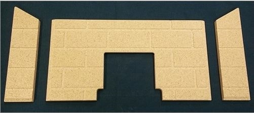 3pc Premium Fire-Tek Firebrick set. Fits St Croix York INS