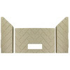 3 pc Premium Herringbone Fire-Tek™ Firebrick for Whitfield® Advantage Plus