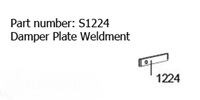 Heartland Oval Damper Plate Weldment