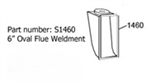 Heartland Oval 6  Flue Weldment - No longer available