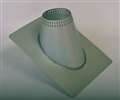 6 inch Ventis Class-A Solid Fuel Chimney Galvalume Vented Roof Flashing 0/12-6/12 Pitch