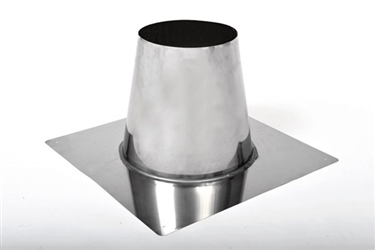 6 inch Ventis Class-A Solid Fuel Chimney Galvalume Non-Vented Roof Flashing Flat