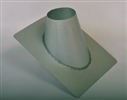 8 inch Ventis Class-A Solid Fuel Chimney Galvalume Non-Vented Roof Flashing 0/12-6/12 Pitch
