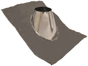 6 inch Ventis Class-A Solid Fuel Chimney Formable Flashing 0/12-6/12 Pitch
