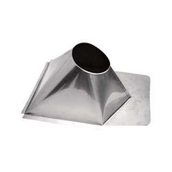 7 inch Ventis Class-A Solid Fuel Chimney Galvalume Flashing-Metal Roof 0/12-6/12 Pitch