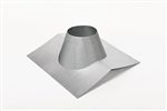 6 inch Ventis Class-A Solid Fuel Chimney Galvalume Non-Vented Peak Style Flashing