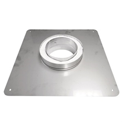 6 inch Ventis 304L Class-A Solid Fuel Chimney Transition Plate, Masonry