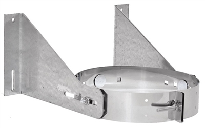 5 inch-8 inch Ventis Class-A Solid Fuel Chimney Galvanized Wall Support