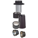 "VDB06CA - 6"" Ventis Double-Wall Black Stove Pipe, Class-A Standard Chimney Adapter"