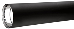 "VDB0824 - 8"" X 24"" Ventis Double-Wall Black Stove Pipe 430 Inner/Satin Coat Steel Outer"