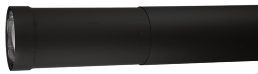 "VDB08ST - 8"" Ventis Double-Wall Black Stove Pipe, Small Telescoping Section"