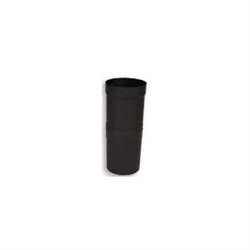"VSB06SL - 6"" Ventis Single-Wall Black Stove Pipe, Slip Section With Gap Collar"