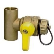 "webstone 1"" 5067 forged brass tee with ball valve drain"