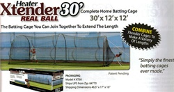 BaseHit Real Ball Pitching Machine & 30' Xtender
