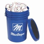 MacGregor Leather Practice Baseballs w/Bucket