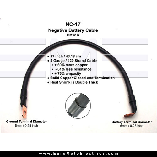 Battery cable ampacity table image collections wiring table and enduralast bmw k battery cable kit 61 12 1 244 577 neg kit part keyboard keysfo greentooth Gallery