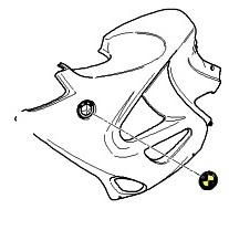 BMW Logo Round Emblem (70mm) ; 51 14 7 721 222 / BMW