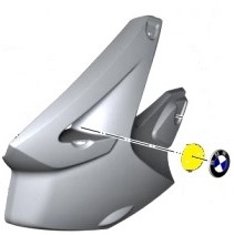 Bmw Motorrad Emblem 70mm Schwarz