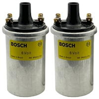 12 13 1 243 452, 12 13 1 244 142, 12131243452, 12131244142,Bosch super 6 volt coils, bosch 6 volt coils, 6 volt coils, Moto Guzzi ignition coils, 3.0 ohm ignition coil, 3 ohm ignition coil, 3.0 ohm coil, 12 13 1 351 584, 12131351584, 0 221 124 001, 022112