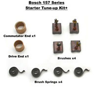 BOSCH 157 SERIES STARTER, 0 001 157 007,  0 001 157 015, 0 001 157 023, BOSCH Moto Guzzi Starter 0 001 157 006, 0 001 157 016, 0001157016, Carbon Brushes, 12 41 1 352 536, Brush Springs, 12 41 1 352 537, Commutator Bushing, 12 41 1 722 916, 12 41 1 352 52