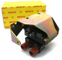 BOSCH Airhead Ignition Coil, Bosch Ignition Coil, BMW R Airhead, 12 13 1 244 426, 12131244426, 0 221 500 203, 0221500203, BMW R45 Ignition Coil, BMW R65 Ignition Coil, BMW R80 Ignition Coil, BMW R100 Ignition Coil, BMW R Airhead Dual tower ignition coil,