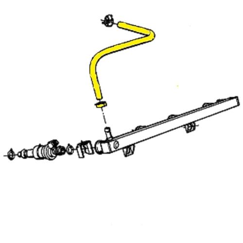 specially shaped fuel hose   bmw