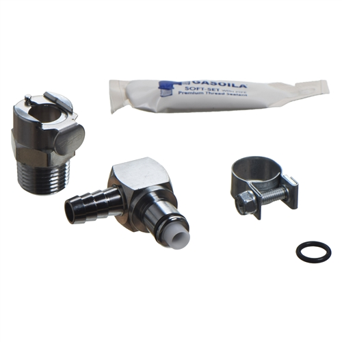 Fippy Fuel Filter Hose Kit 5mm Universal Motorcycle Square Fuel Filter Set with Inline Fuel Hose and 4PCS Tubing Clips