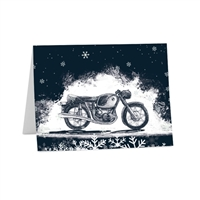 BMW; airhead; art; note; note card; notecard; letter; stationary; personal; Holiday; Snow; Snowflake; greeting card; motorcycle card; note; card; seasonal card; envelope; bmw airhead;