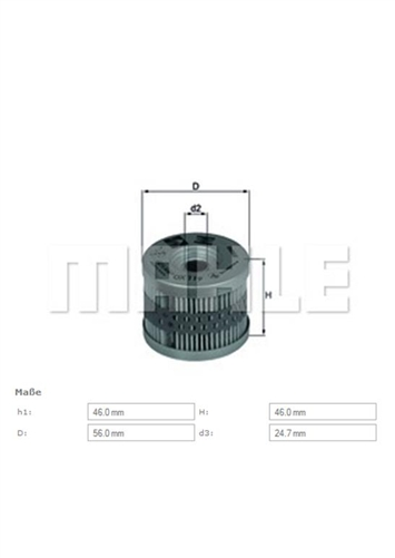 Mahle Oil Filter Original Equipment- BMW F650 ; 11 41 2