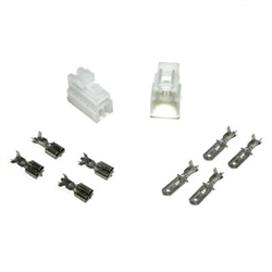 "3-Pin Connector Set 1/4"",old style block,male connector,femail connector,3pin female block,3pin male block,male pin,female pin, plug, plug set"